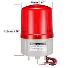 Led Stack Light Bulbs Uxcell Led Warning Light Bulb Bright Industrial Signal Alarm Stack Lamp Dc 12v Red Color Tb 1081
