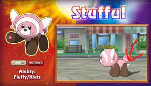 Stufful has a tag on its butt | Pokémon Sun and Moon