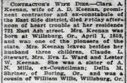 Clara Adriana Wills Keenan (1859-1918) - Find A Grave Memorial
