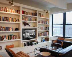 Wall Units, In Wall Bookshelves Hanging Wall Bookcase Aparment Living Room  With Built In Bookshelf
