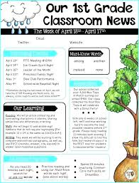 Kindergarten Weekly Newsletter Template Lapos Co