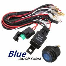 Led Light Bar Switch Wiring 40a 12v Led Light Bar Wiring Harness Relay On Off Switch For Jeep Off Road Vehicles Atv
