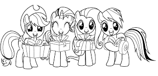 Small Picture little pony christmas coloring pages