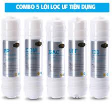 Combo 5 lõi lọc cho máy lọc nước tinh khiết UF5 (Ultra Filter) Eurolife  EL-CB1