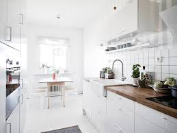 Kitchen Minimalist White Stained Kitchen Cabinets Handle Solid