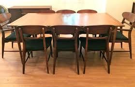 mid century modern dining room table. Mid Century Modern Dining Room Set Walnut Table