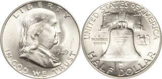 1959 Franklin Half Dollar Value Chart Franklin Half Dollar Value Coin Helpu