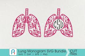Free svg designs   download free svg files for your own. Lung Monogram Svg Lung Svg Lung Clipart Graphic By Pinoyartkreatib Creative Fabrica Monogram Svg Svg Clip Art