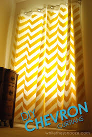 Diy Curtains While They Snooze Diy Chevron Curtains Tutorial