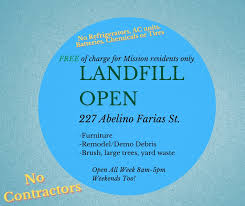 📍 We have a new landfill location for... - City of Mission, TX -  Government | Facebook