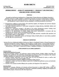 Gallery Of Quality Assurance Resume Examples