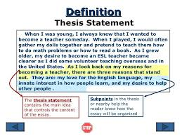 what is the thesis in an essay  essay thesis sentence for research paper sdy