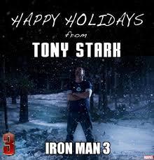 Happy Holidays from Iron Man 3 Meme | Slapcaption.com | We Heart ... via Relatably.com