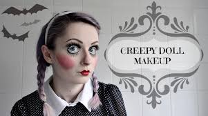 creepy doll makeup tutorial video