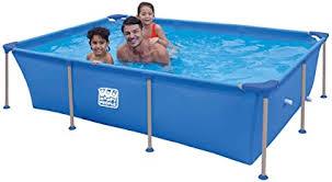 Happy People Wehncke - Frame Pool - Aufstellpool - rechteckig - 258 x 179 x  66 cm - blau - ohne Pumpe: Amazon.de: Garten