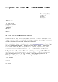 Teacher Letter Of Resignation Sample Resignation Letter Template for A Teacher 1