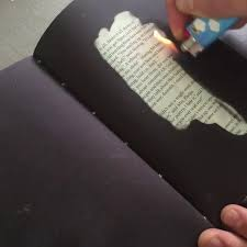 this fahrenheit 451 book can only be read by the light of a flame inverse