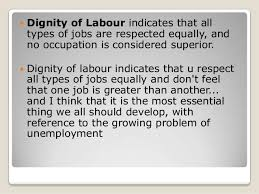 simple essay on dignity of labour dignity of labour