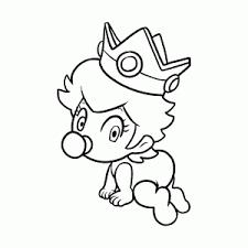 Baby Prinses Peach Kleurplaat