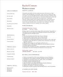restaurant-waitress-resume
