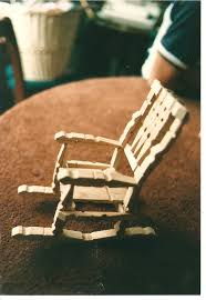 image of wooden rocking chairs photo