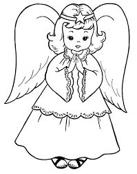 Angel Coloring Page Girls Coloring Book Danaverdeme