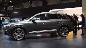 luxury full size suv audi q7 full size luxury suv car on display during the 2017 european