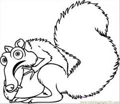 Small Picture Raw Scrat From Ice Age Step 5 Coloring Page Free Ice Age