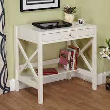 enchanting narrow writing desk writing desk white wooden desk with drawer laptop vas flowers