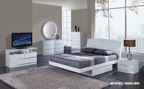Aria White Glossy Bedroom Set By Global Furniture Extraordinary Glossy White Bedroom Furniture