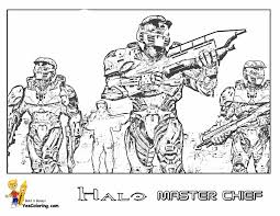 Small Picture Halo 3 Coloring Pages qlyviewcom