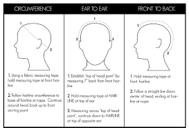 Average Head Size Chart How To Measure Your Head Size For A Wig The Headshop Wigs
