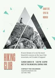 Incentive Flyer Incentive Flyer Template Hiking Club Recruitment Flyer Template