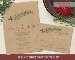 Rustic Winter Wedding Invitations Winter Wedding Invitations Set 2360097 Weddbook