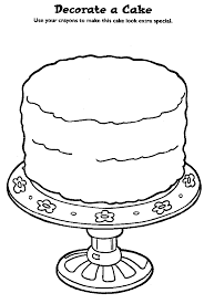 Small Picture birthday cake coloring page for kids free birthday cake coloring