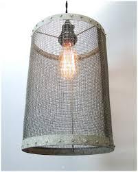 wire barrel pendant light fixture aged galvanized look old pics with amusing galvanized outdoor light fixtures bucket lighting pipe steel diy