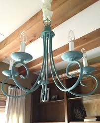 chandelier makeover using miss mustard seed s milk paint