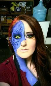 mystique x men mid transformation make up tutorial source 216 best images about makeup tats crazy
