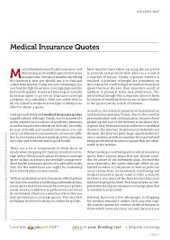 Medical Insurance Quotes Enchanting Medical Insurance Quotes