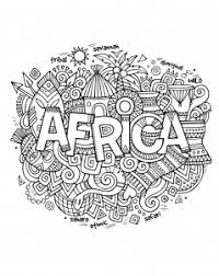 Small Picture Africa Coloring pages for adults JustColor