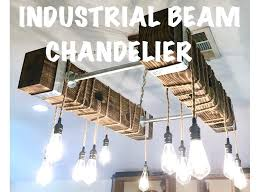 full size of diy reclaimed wood chandelier wooden bead pottery barn industrial beam with led bulbs