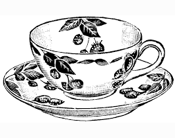 vintage tea cups drawing. Contemporary Cups Tea Cup Coloring Pages Printable Inside Vintage Cups Drawing M