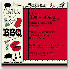 Barbeque Invitation Bbq Decor Party Invitations Paperstyle