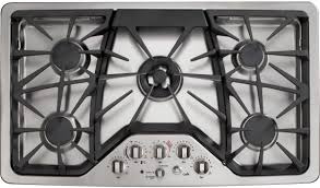 30 inch gas stove top. Delighful Inch GE CGP650SETSS 36 Inch Gas Cooktop With Griddle Accessory Precise Simmer  Burner Sealed Burners 20000 BTU Heavy Cast Grates Fits Throughout 30 Stove Top