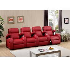 red theater chairs. Red Leather Home Theater Seating 4 Chairs