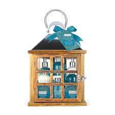 winter in venice lantern bath gift set wood sage