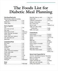 12 Food List Sample Free Sample Example Format Download