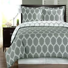 brooksfield gray and white 3 pieces king california king duvet cover set 300 tc king size