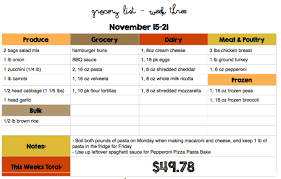 Weekly Menu For One 30 Days Of Kid Friendly Dinners With Free Printable Weekly Grocery