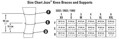 Knee Brace Size Chart Juzo 3922df 30 40 Mmhg Marshall Pac Knee Support With Right Inverted Pad